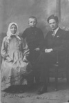 Great grandma Anna Matveevna Vasyunina with the sons Sergei and Fedor (my grandpa), 1924